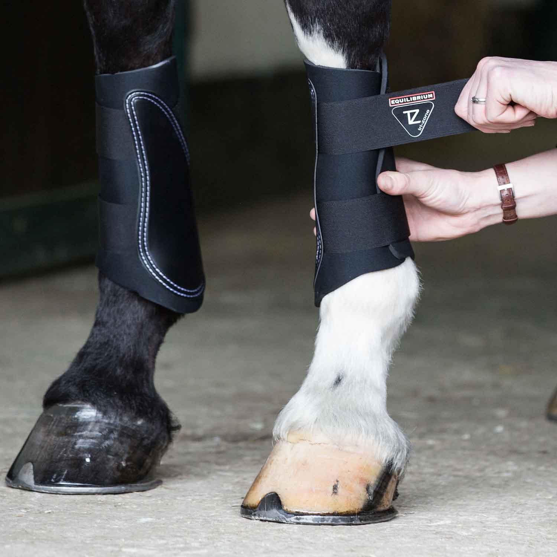 Black All Sizes Equilibrium Tri-zone Unisex Horse Boot Brushing
