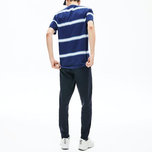 T-Shirt à Manche Courte Homme Lacoste Striped Pique