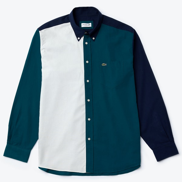 Chemise Lacoste Washed Light Toile Cotton