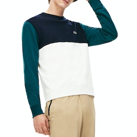 Maglione Lacoste Non Brushed Fleece - Flour Navy Blue Pine
