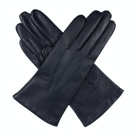 Dents Cashmere Lined Leather Women's Gloves - Navy
