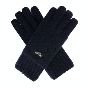 Dents Durham Thinsulate Lined Knitted Herren Handschuhe - Navy