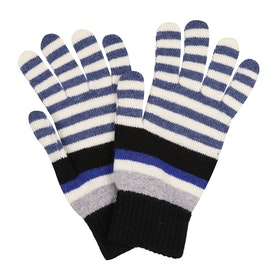 Paul Smith Lew Stripe Gloves - Black