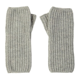 Johnstons Of Elgin Ribbed Wrist Warmer Women's Gloves - Silver