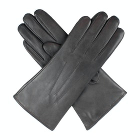 Dents Ripley Fur Lined Leather Women's Gloves - Charcoal