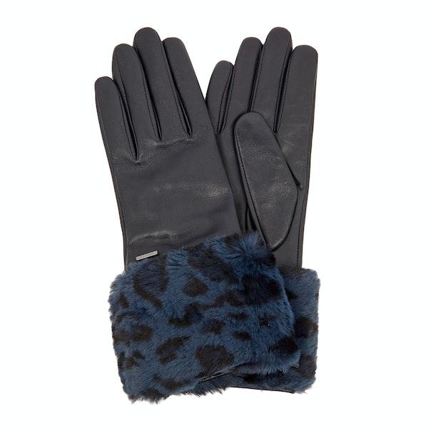 Ted Baker Fleuri Faux Fur Cuff Gloves Women's Gloves