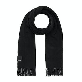 Canada Goose Merino Wool Solid Woven Women's Scarf - Ebony