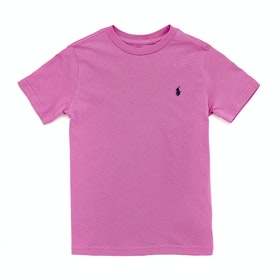 Polo Ralph Lauren Crew Neck Boy's Short Sleeve T-Shirt - Resort Rose