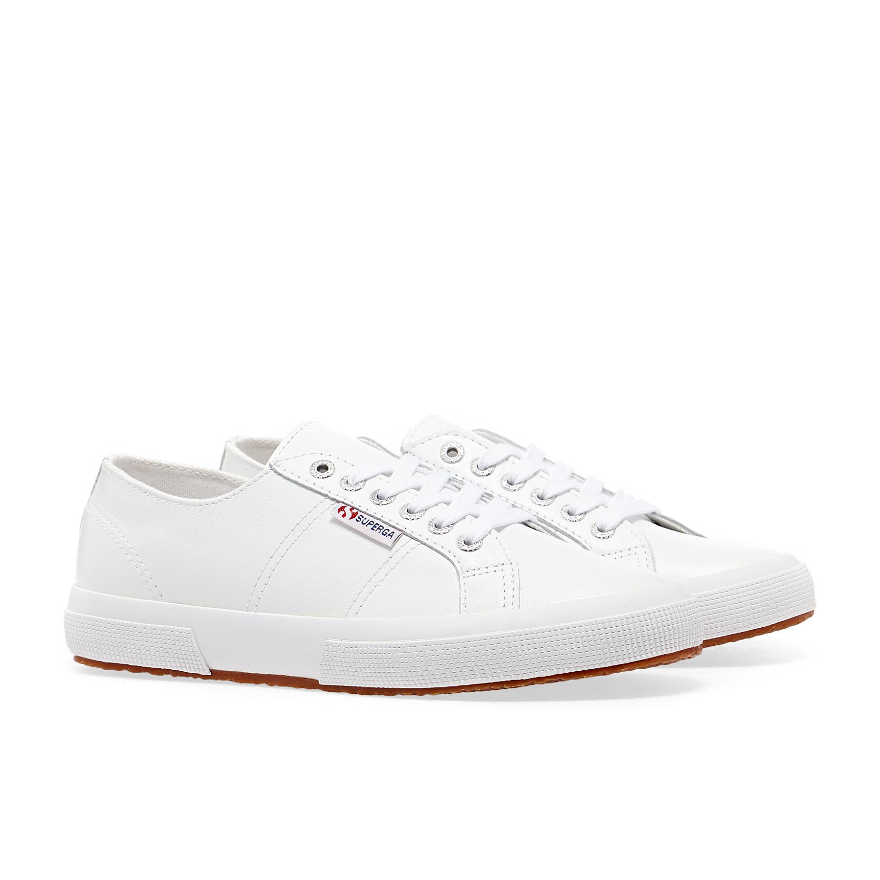Superga 2750 Nappa Lea Shoes - White