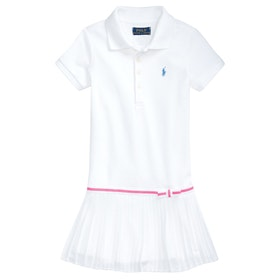 Polo Ralph Lauren SS Polo-knit Dress - White