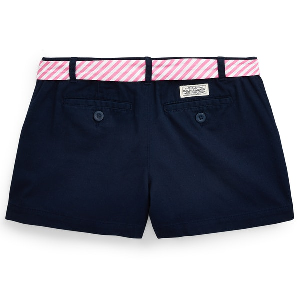 Polo Ralph Lauren Belted Cotton Chino Girl's Shorts