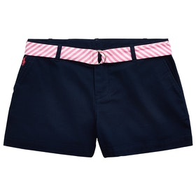 Polo Ralph Lauren Solid Chino Girl's Shorts - French Navy