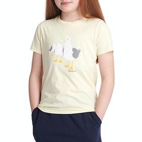 Barbour Seagull Girl's Short Sleeve T-Shirt - Sunshine