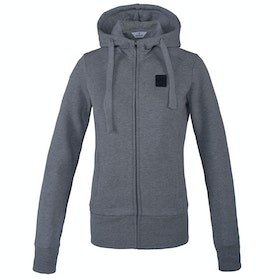 Riding Jacket Femme Kingsland Equestrian Earth Ebony Organic Sweat Hooded - Light Grey