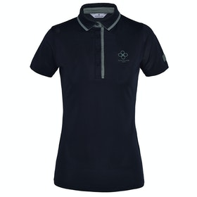 Kingsland Equestrian Earth Star Recycled Pique Dames Top - Navy