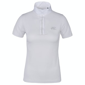 Kingsland Equestrian Anthea Short Sleeved Ladies Competition Shirt - White