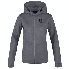 Kingsland Equestrian Antero CD Sweat Hooded Dames Riding Jacket - Light Grey