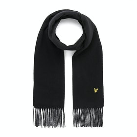 Lyle & Scott Plain Lambswool Scarf - True Black