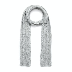 Dents Cable Knit Metallic Scarf - Dove Grey
