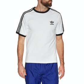 Adidas Originals 3 Stripe Short Sleeve T-Shirt - White