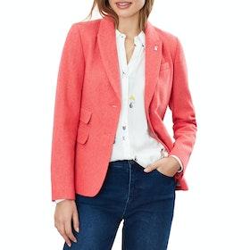Joules Wiscombe Damen Blazer - Red Herringbone