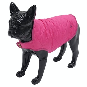 Joules Quilted Dog Jacket - Raspberry