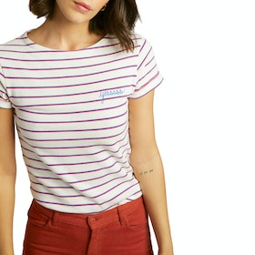 Maison Labiche Sailor Shirt Yesssssss Women's Short Sleeve T-Shirt - Ivory Candy Pink Ele
