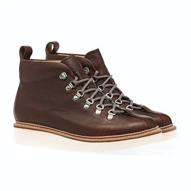 Grenson Bobby Boots - Brown Oily Pull Up Grain