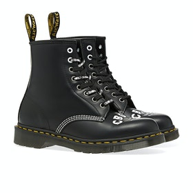 Dr Martens 1460 Embossed CBGB Boots - Black