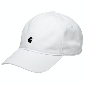 Carhartt Madison Logo Cap - White / Dark Navy