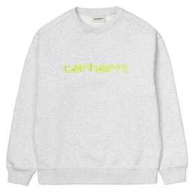 Carhartt Classic Dame Sweater - Ash Heather / Lime