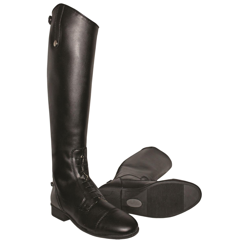 Black All Sizes Qhp Birgit Junior Kids Boots Long Riding