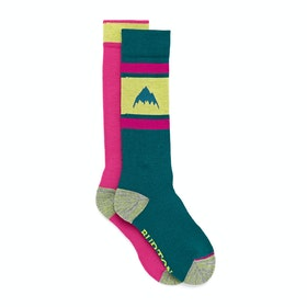 Burton Weekend 2 Pack Womens Snow Socks - Green-blue Slate