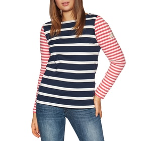 Joules Harbour Womens Long Sleeve T-Shirt - Navy Cream Stripe