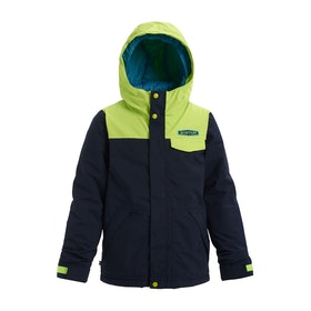 Burton Dugout Boys Waterproof Jacket - Dress Blues Tender Shoots