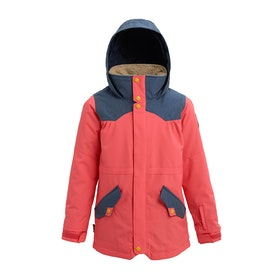 Burton Shortleaf Parka Girls Snow Jacket - Georgia Peach