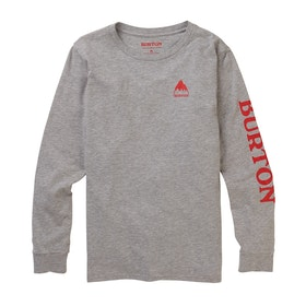 Burton Elite Kids Long Sleeve T-Shirt - Gray Heather