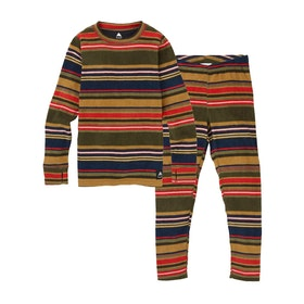 Burton Youth Fleece Set Kids Base Layer Top - Gratz Stripe