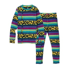 Burton Youth Fleece Set Kids Base Layer Top - Leopardy Cat