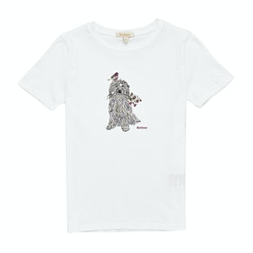 Barbour Patterson Girl's Short Sleeve T-Shirt - White