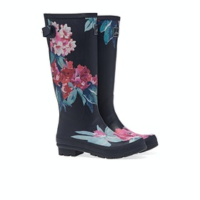 Joules Printed Women's Wellington Boots - Navy Floral
