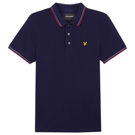 Lyle & Scott Vintage Tipped Polo-Shirt - Red