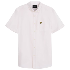 Lyle & Scott Vintage Oxford Kurzarmhemd - Strawberry Cream White