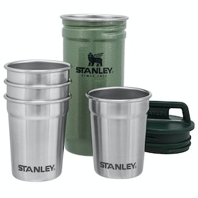 Stanley Adventure Shot Glass Set x 4 Camping Accessory - Hammertone Green