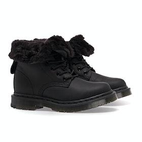 Dr Martens 1460 Kolbert Snowplow Waxy Suede Women's Boots - Black