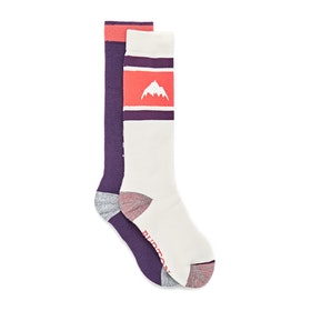 Burton Weekend 2 Pack Womens Snow Socks - Stout White Purple