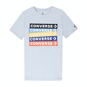 Converse Colourblocked Logo Short Sleeve T-Shirt - Porpoise