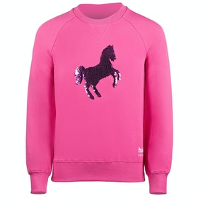 Sudadera Niño Horze Sofie Reversible Sequined College - Shocking Pink