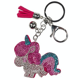 Horze Sparkly Pony Keyring - Pink Silver