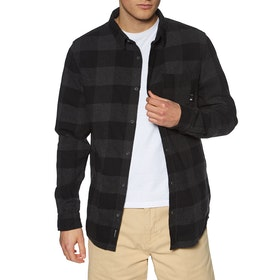 Quiksilver Motherfly Flannel Shirt - Black Motherfly